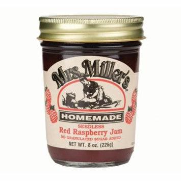 Mrs. Miller's No Sugar Seedless Red Raspberry Jam 8 oz. (3 Jars)