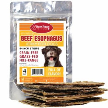 Eager Paws Premium All-Natural 6-inch Beef Jerky for Dogs, 4-ounce - Esophagus Dog Treats - Grain & Gluten Free - High Chondroitin Dog Treats
