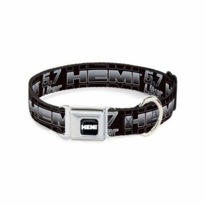 Dog Collar HEA - HEMI 5.7 LITER Bk/Wt/Silver-Fade - Large