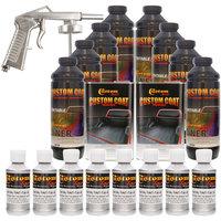 Bed Liner CUSTOM COAT BRIGHT SILVER 8-L Urethane Spray-On Truck Kit w/ Spray Gun