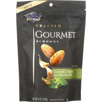 Blue Diamond Almonds Gourmet Garlic, Herb and Olive Oil , 5 Ounces [Garlic, Herb & Olive Oil]