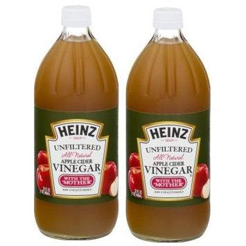 Heinz Vinegar Apple Cider Unfiltered All Natural, 32 Fl Oz (Pack of 2)