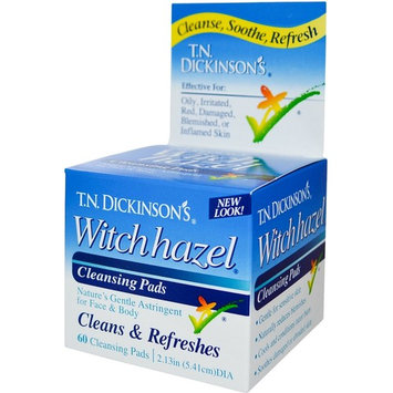 T.N. Dickinson's Witch Hazel Cleansing Pads, Clean & Refreshes 60 ea