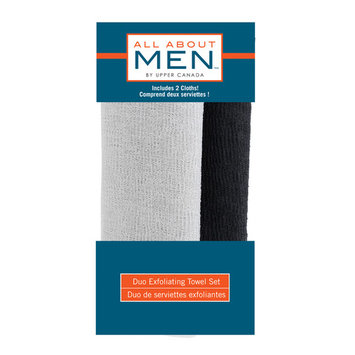 All About Men Duo Exfoliating Towel Set, 2 Ct