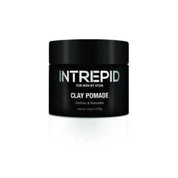 Intrepid for Men Clay Pomade 4 oz.~ Matte Medium Hold Add Volume and style with out the slick Shiny look of Hair Gel ~ Texturizes and styles with Natural looking Results