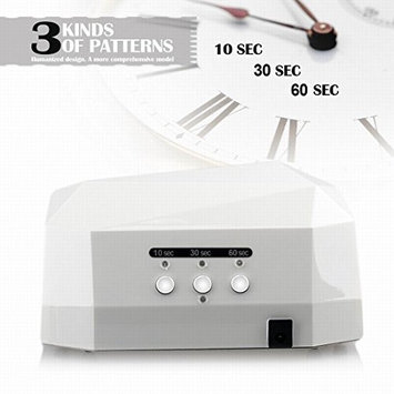 Y&S 36W Nail Dryer UV Lamp/ Light For Acrylic, Gelish & Curing, Upgraded with Sliding Tray & Timer Setting, SPA Equipment-Red