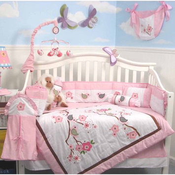Soho Love Bird Baby 14 Piece Crib Nursery Bedding Set