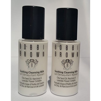 Lot of 2 Bobbi Brown Soothin Cleansing Milk 0.5 oz each (travel size) and wet'n wild shimer dust