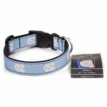 North Carolina Tar Heels Ribbon Dog Collar