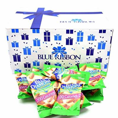 Blue Diamond Almonds, Whole Natural 100 Calories Per Bag, Pack of 100 - (Each 0.625 Oz - 18g) by Blue Ribbon