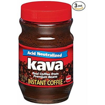 Kava Reduced Acid Instant Coffee, 8 oz, (Pack of 3)