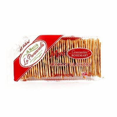 La Panzanella Rosemary Croccantini Crackers 6 oz each (4 Items Per Order)