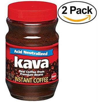 Kava Instant Coffee, 8 Ounce Glass Jar (Pack of 2)