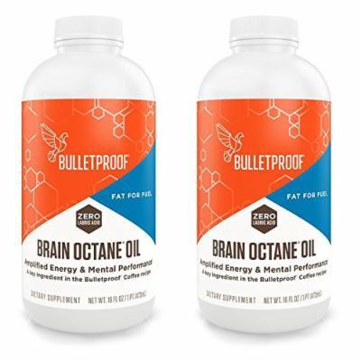 Bulletproof Brain Octane Oil - 16oz (2 Pack) + 1oz Uben Disposable Plastic Measuring Cups,100 Count
