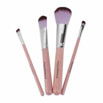 HAPPY-MAKEUP 4pcs/set Women Wooden Handle Foundation Eyeshadow Eyeliner Brush