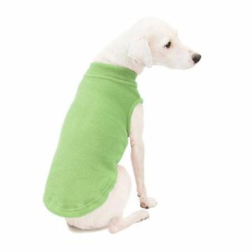 gooby stretch fleece pull over cold weather dog vest, grass green, 4x-large