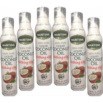 100% Pure Liquid Coconut Oil - 5 fl.oz. Spray (Pack of 6)