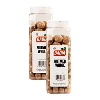 Badia Nutmeg Whole 16 oz Pack of 2