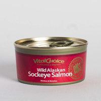 Vital Choice Wild Alaskan Canned Sockeye Skinless/Boneless, 6 Ounce cans, Pack of 6