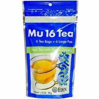 Eden Foods Mu 16 Tea with Panax Ginseng -- 6 Tea Bags by Eden