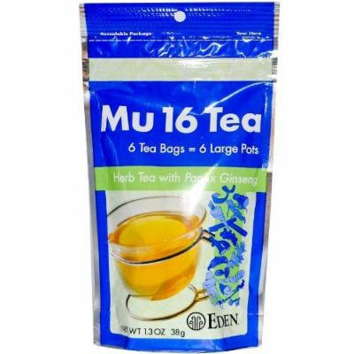 Eden Foods Mu 16 Tea with Panax Ginseng -- 6 Tea Bags by Eden