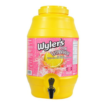 Wylers Lemonade and Punch Mix includes 2.5 Gallon Capacity Soft Drink Dispenser with Spigot (Pink Lemonade)