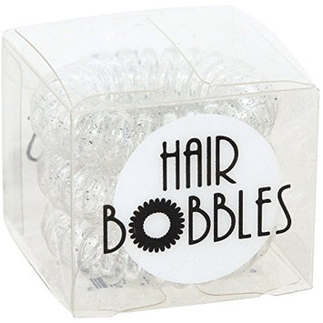 ForPro Hair Bobbles, Icy Clear, 3 Count