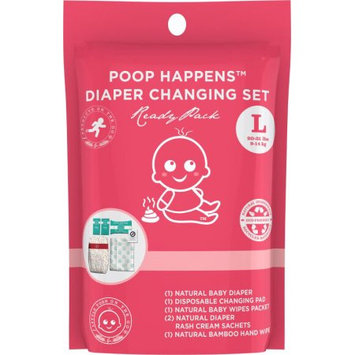 Products on the Go POTG1020 Poop Happens Ready Pack VB Diaper - Large