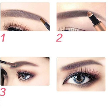 Aurorax Novo 5037 Eyelash & Brow Dye Tint Color Kit Waterproof Eyebrow Pen Eyeliner Pencil With Brush Makeup