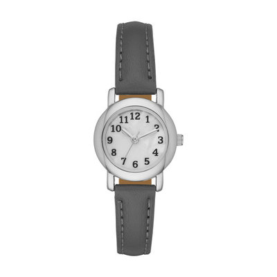 Ladies Grey Strap Watch