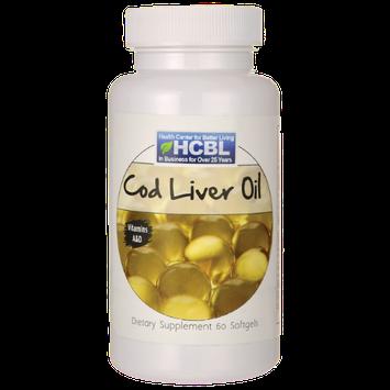 HCBL Cod Liver Oil 60 Sgels