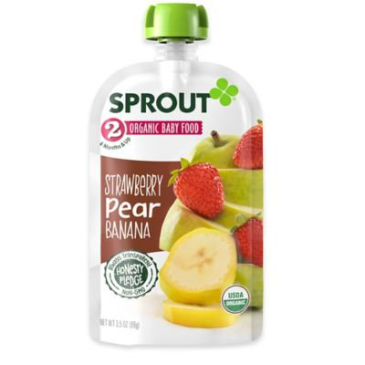 Sprout Stage 2, Strawberry Pear Banana, 3.5 oz