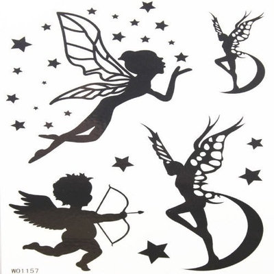 GGSELL Baby angel and butterfly angel temporary tattoos with star and moon