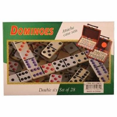 Dominoes Dbl Six 28Set W/Black Case - 1 count only