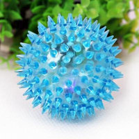 8cm Dog Toy Squeakers Indestructible Ball with High Bounce for Small Medium Aggressive Chewers (Blue)