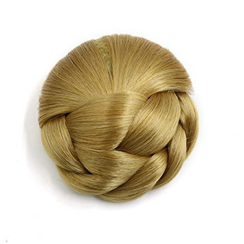 uxcell Synthetic Clip-in Twist Braided Hair Bun Chignon Donut Ponytail Wig for Women #3
