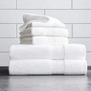 Better Homes & Gardens USA 6-Piece Towel Set, White