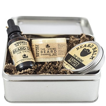The Viking Beard Kit - Oakmoss & pine scented beard oil, beard balm, and beard shampoo in a kit