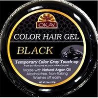 OKAY Color Hair Gel Black 59 ml - 6 pieces