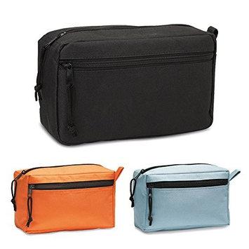 eBuyGB Travel Wash Toiletries Cosmetic Unisex Toiletry Bag, 24 cm, Black