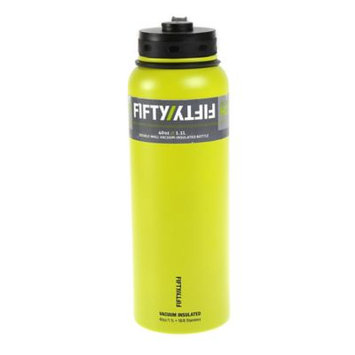 Fifty Fifty FiftyFifty Lime Vacuum-Insulated Stainless Steel Bottle with Wide Mouth - 40 oz. Capacity