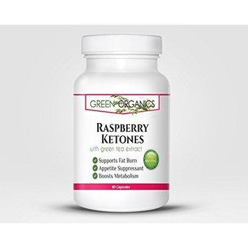 Green Organics Raspberry Ketones – Burn Calories At Work – Aids Weight Loss - 60 Capsules