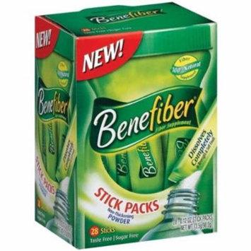 2 Pack - Benefiber Fiber Sugar-Free On the Go Stick Packs, Unflavored, 28 ea
