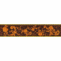 Country Brook Design® 3/4 Inch Seasons of Change Ribbon Double Sided Dog Leash - 6 Foot Limited Edition