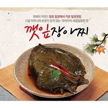 Korean Packaged Ready-to-eat Pickled Side Dish (Perilla Leaf 깻잎, 1 Pack)