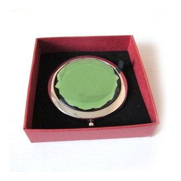 ALICE Green Crystal Makeup Mirror, Purse Mirror