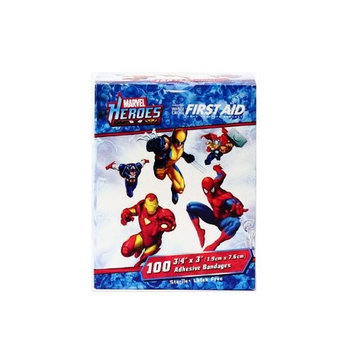 Children's Adhesive Bandages - (Wolverine Spider Man Iron Man) Box of 100: Health & Personal Care