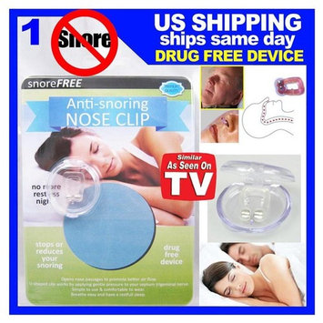 Stop Snore Free Anti Snoring Nose Clips Sleep Aid Guard Night Device On Tv