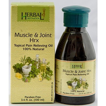 Muscle and Joint Hrx; Pain relief oil/ rub; All natural oil for Arthritis, stiffness and Back pain; Doctor recommended.