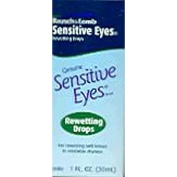 Bausch & Lomb Sensitive Eyes Rewetting Drops 1 oz. (Pack of 3)